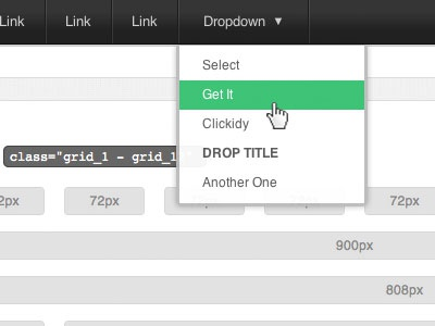 Clevurr UI Elements Available tabs buttons dropdown grid layout user interface