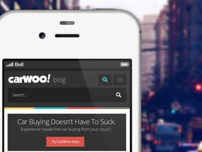 Woo! Responsive Blog responsive blog mobile search