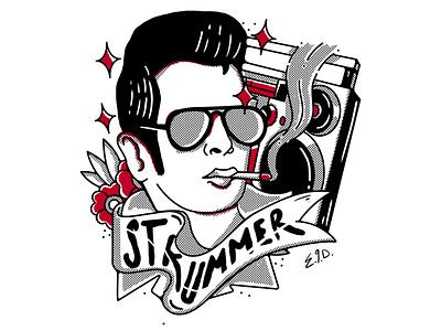 Joe Strummer typography theclash vector stickers questioneverything punk illustration punkrock design