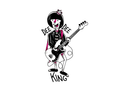 TAKE IT DEE DEE! ramones vectorillustration vectorart vector questioneverything punk illustration punkrock design