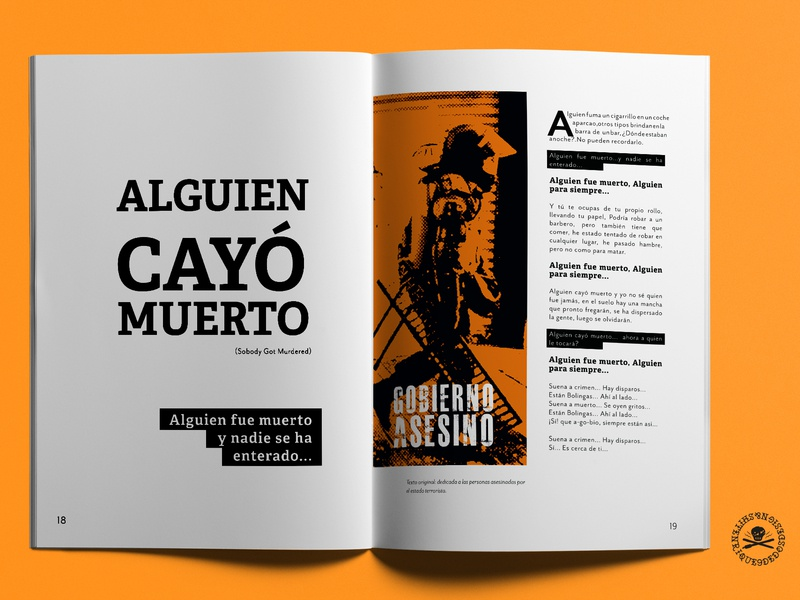 Alguien Cayo Muerto the clash typography editorial design fanzine questioneverything theclash punk punkrock design
