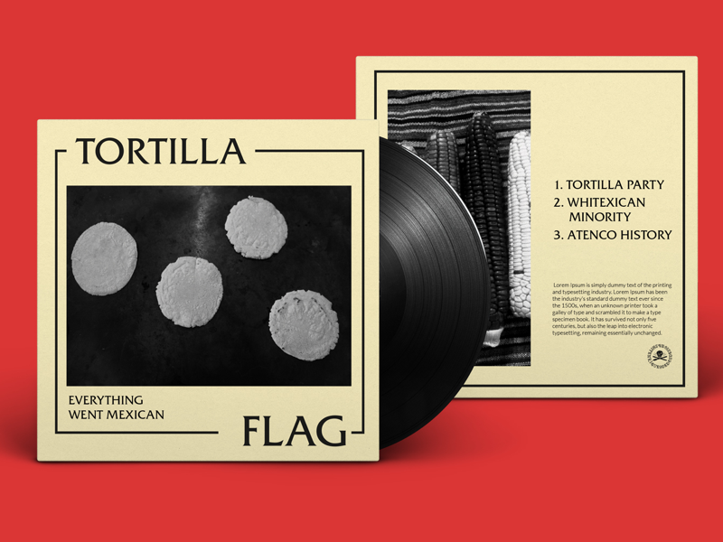 What if there were a Mexican Black Flag Tribute Band? graphic design music vinyl art punk