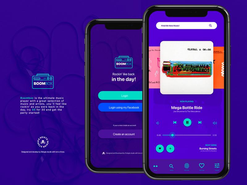 Daily UI Challenge No. 9 - Music Player app app design uidailychallenge uxdesign uidesign ux ui design
