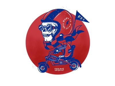 Born to raise hell... lemmyisgod motörhead motorcycle motorbike vector sticker stickers questioneverything punk illustration punkrock design