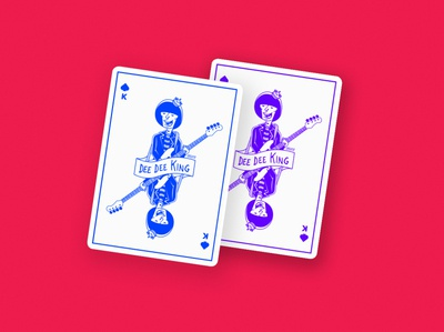 Dee Dee King Playing Card