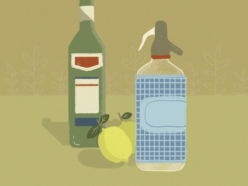 Un domingo cualquiera drinks lemon design ilustration
