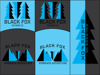Black Fox Outdoor Company Logo Design Concept