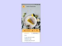 Daily UI 040 - Recipe