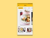 Daily UI 043 - Food Drink Menu
