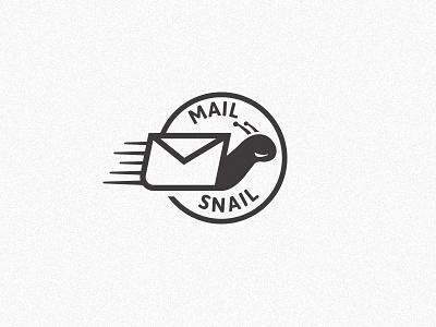 Snail II postmark envelope shell snail identity logo
