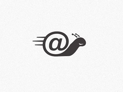 Snail V tag handle digital shell snail identity logo