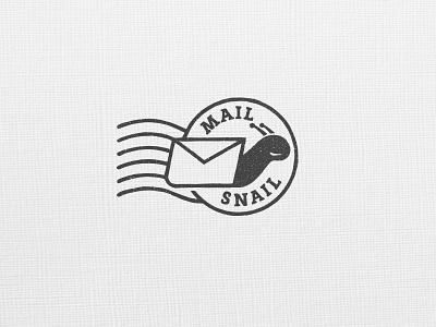 Snail VI postmark envelope shell snail identity logo