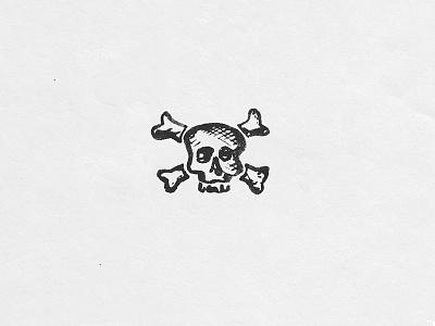 Skull illustration poison skull brushpen