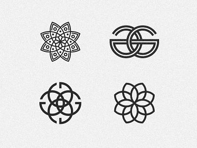 Glaze geometric shapes leaf icon branding g identity logo