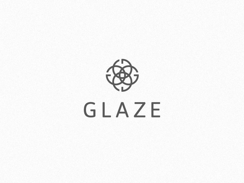 Glaze hair salon identity logo