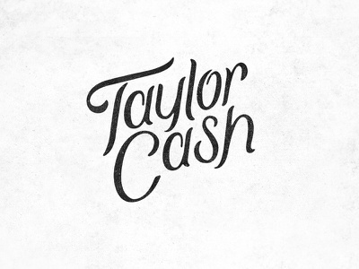 Taylor Cash Photography hand lettering wordmark photography lettering identity logo