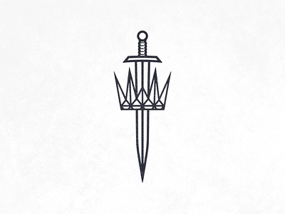 King and Country identity branding king knight warrior logo icon crown sword