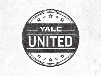 Yale United typography seal stamp mockup stroke jmg rejected