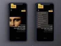 Louvre Museum Mobile app Concept