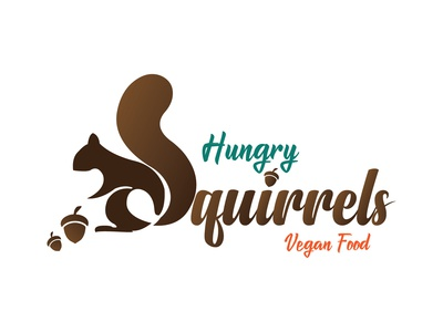 Hungry Squirrels veganfood vegan squirrel type illustation vectorillustration design vector art vector illustraor adobeillustrator adobe