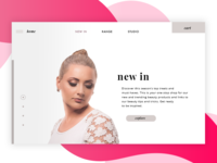 Concept for beauty landing page