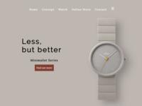 Minimalistic webdesign