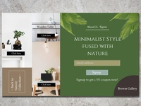 Minimalist Style Infused with Nature Webpage
