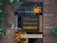 Restaurant Signup UI Element