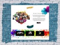 Creative Agency Website UI Element
