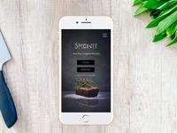 Food Delivery App Login UI Element