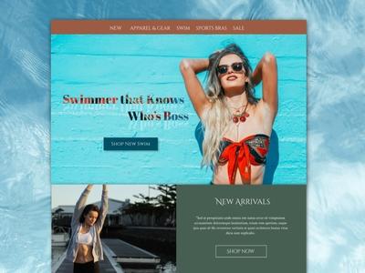 Swimwear Online Store UI Element