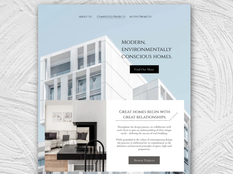 Architecture Firm Website branding clean website design simple ui