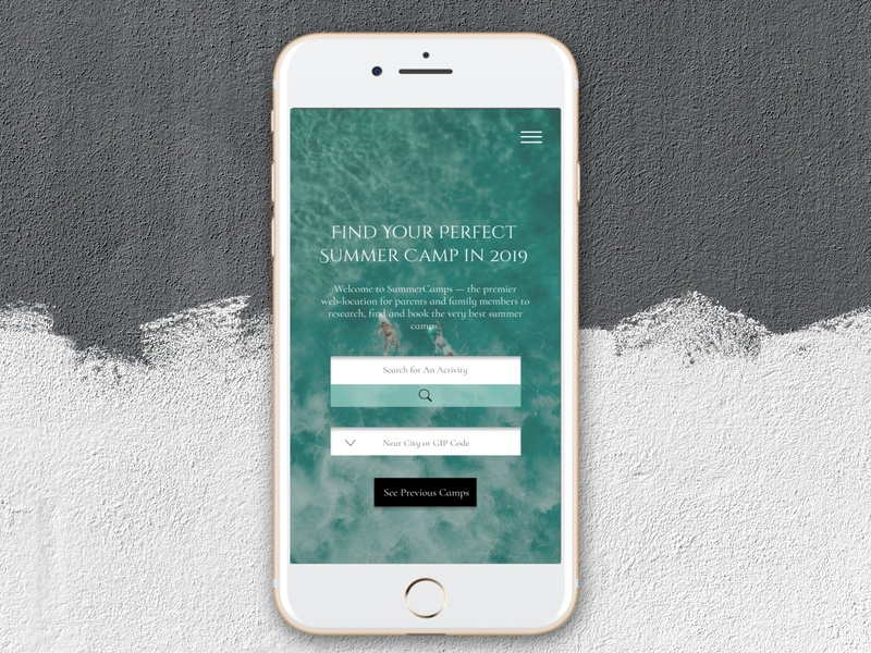Summer Camp Top Page[Mobile Version] mobile branding landing page clean design simple ui