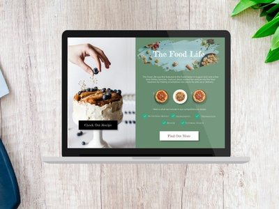 The Food Blog Landing Page