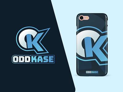 OddKase Logo web typography graphicdesigner logotypes logodesigner logodesign oddkase phonecase vector branding illustration logo design