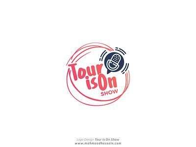 Tour Is On Show Logo Design travel travelshow vector typography logo branding illustration design