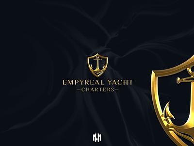 Empyreal Yacht Charters Logo Design minimallogo elegantlogo goldlogo yatchlogo brandbook brandidentity brand logodesign logodesigner icon typography vector logo branding design