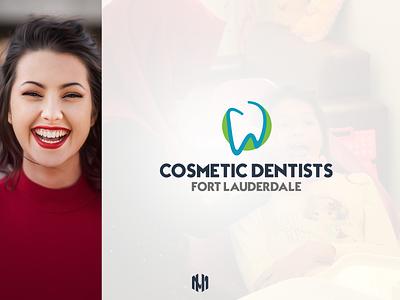 Cosmetic Dentists - Fort Lauderdale Logo Design fiverr logoart logodesigner vector icon upwork florida usa graphic design monogram illustration dentallogo dental dentistlogo branding logodesign logo