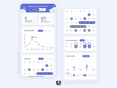 Todo App Screens adobexd designer graphicdesign uidesign appdesign todoapp todo design typography ux app ui vector illustration