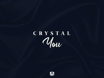 Crystal You Logo Design typography type logodesigner logodesign minimal minimalist fashion fashionlogo icon vector logo illustration branding design