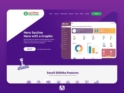 Sheba Shikkha Landing Page Design webdesign landingpage education onlineeducation educationmanagement ux ui illustration design