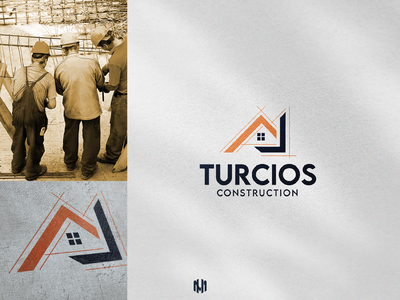 Turcios Construction Logo Design logodesigns logodesigners industriallogo brandidentity logodesign constructionlogo usa construction icon typography vector logo branding illustration design
