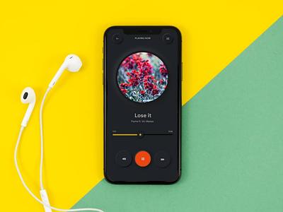 Music Player - Black theme
