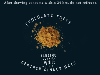 Crushed ginger nuts