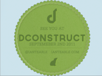 Coming to dConstruct?