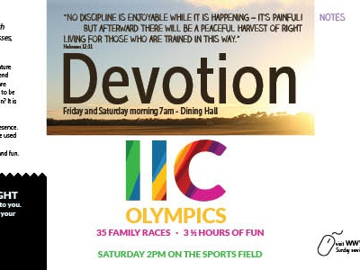 Devotion programme indesign
