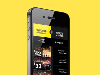 Swoop App mobile ui ux digital app sports basketball money tickets
