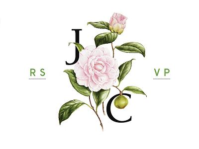 Wedding RSVP wedding rsvp typography botany colorful