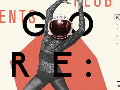 Klub Spektrum Poster poster typography illustration