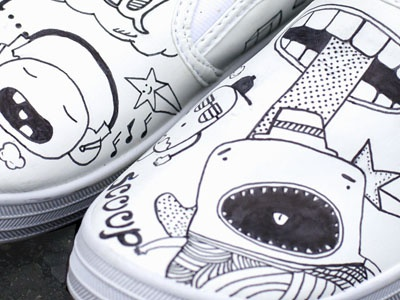 Just Shoes shoes graffiti illustration monsters pen drawing hand done